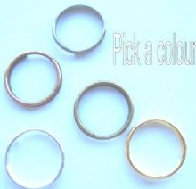 10mm Split rings x 25. Choice of 5 finishes